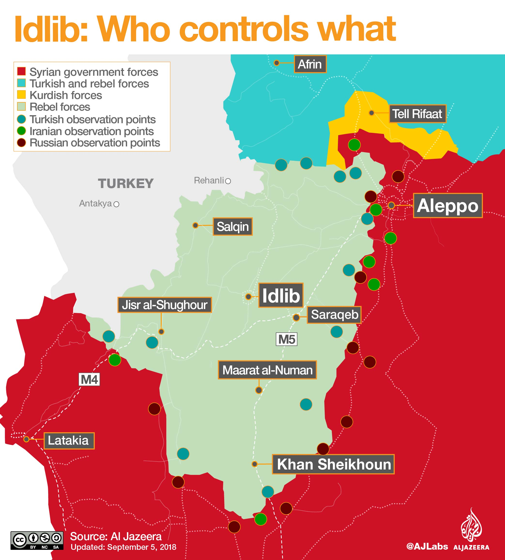 idlib who controls what map infographic
