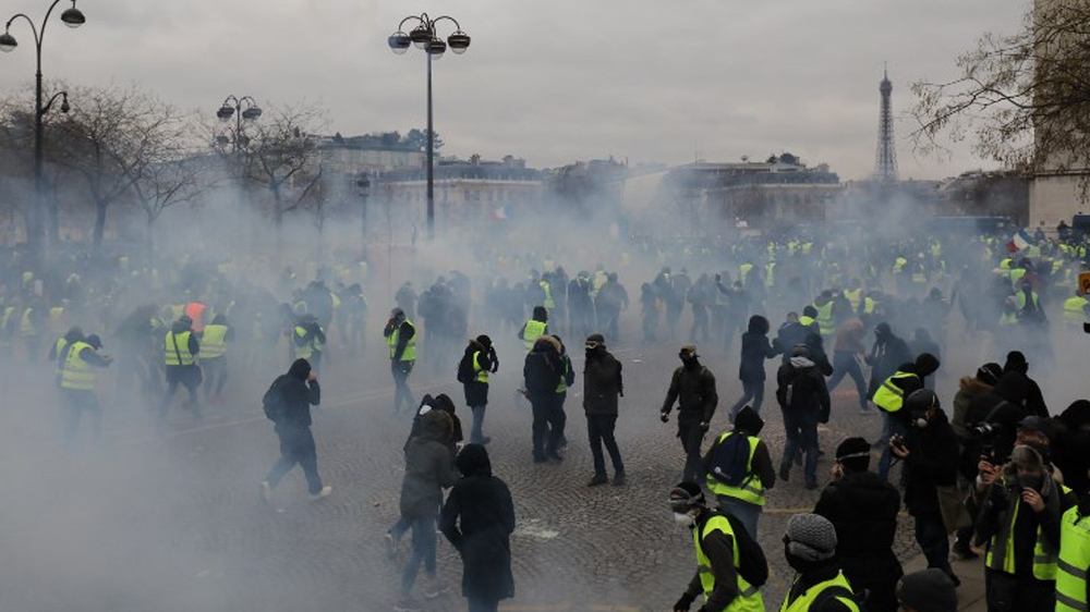 Protesters took to the streets in France for the ninth weekend in a row