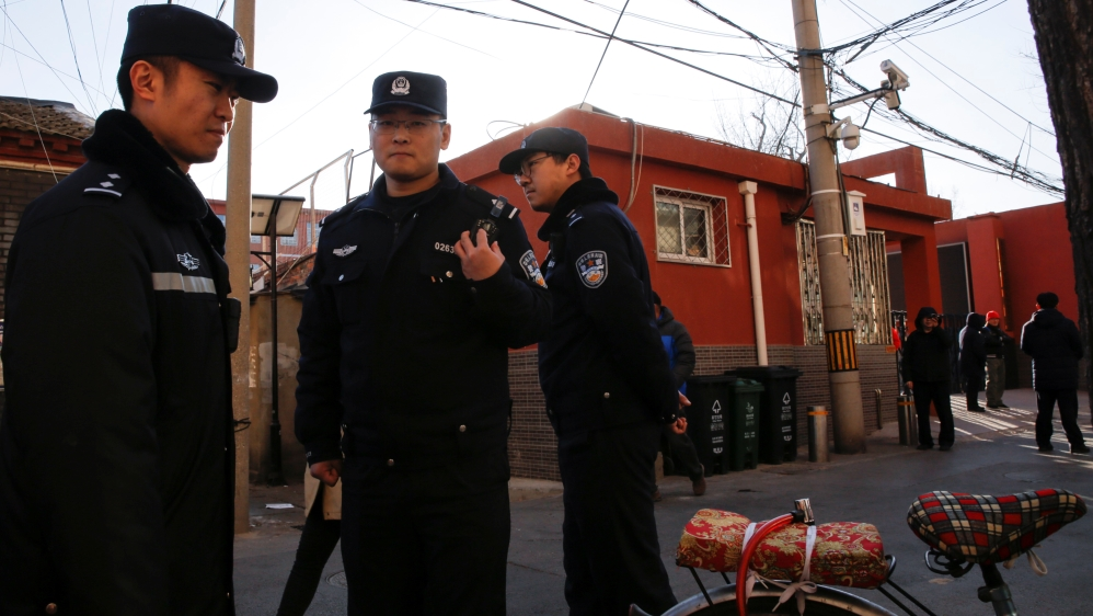 Tuesday's attack took place at Beijing No 1 Affiliated Elementary School