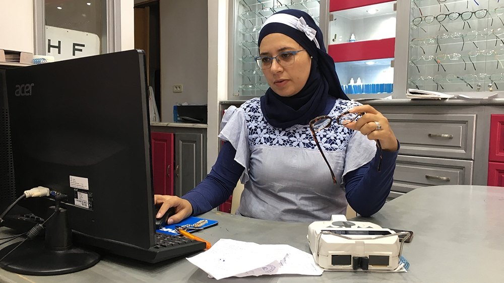 Neila Bradai studied in Brussels to become an optician. She says she'll likely vote for Kais Saied, because that's who the youths want.