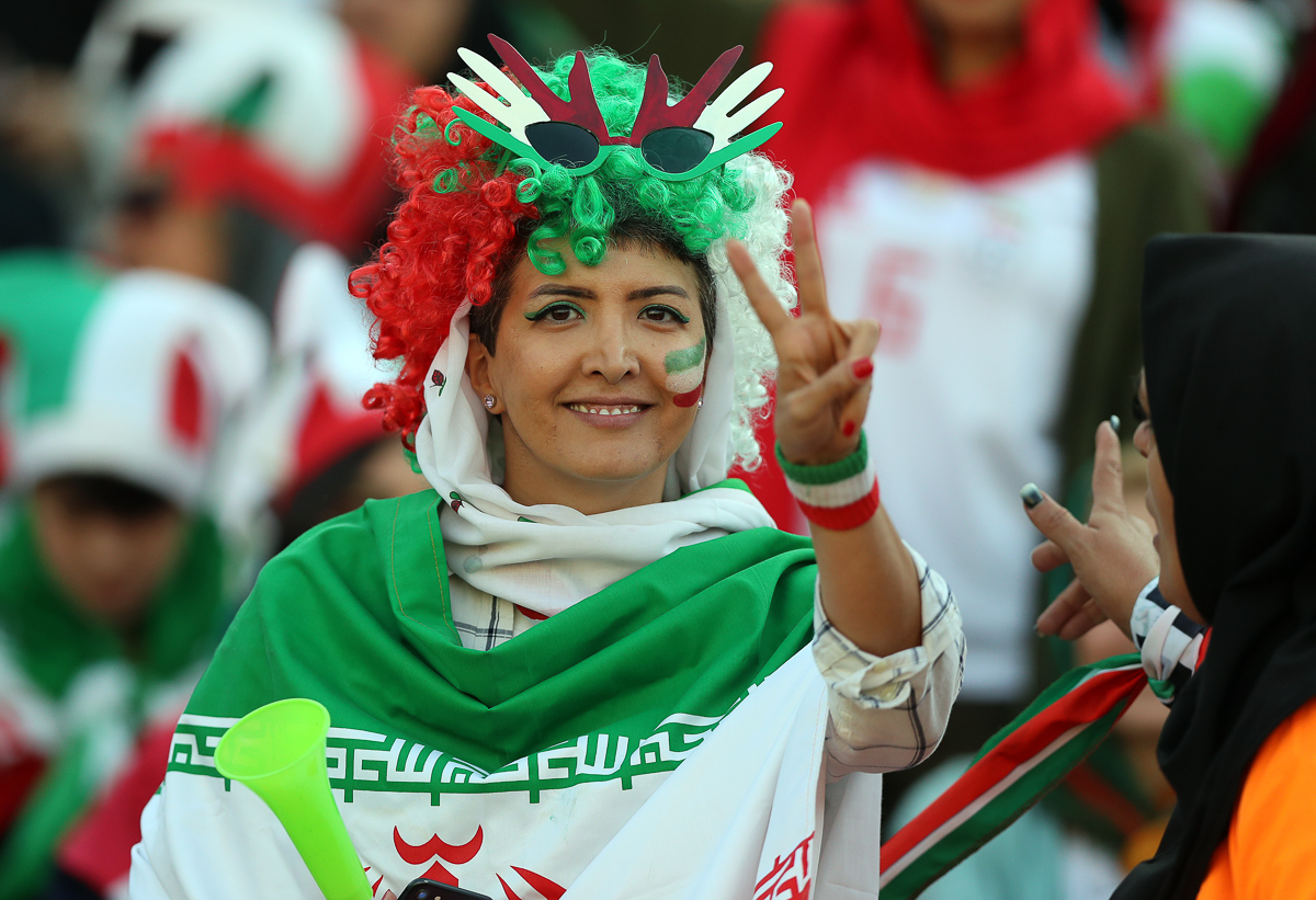 FIFA has demanded that the Iranian authorities allow an unrestricted number of women to attend all games. But Tehran has yet to announce that they will be granted unrestricted access to all matches. [Amin M. Jamali/Getty Images]