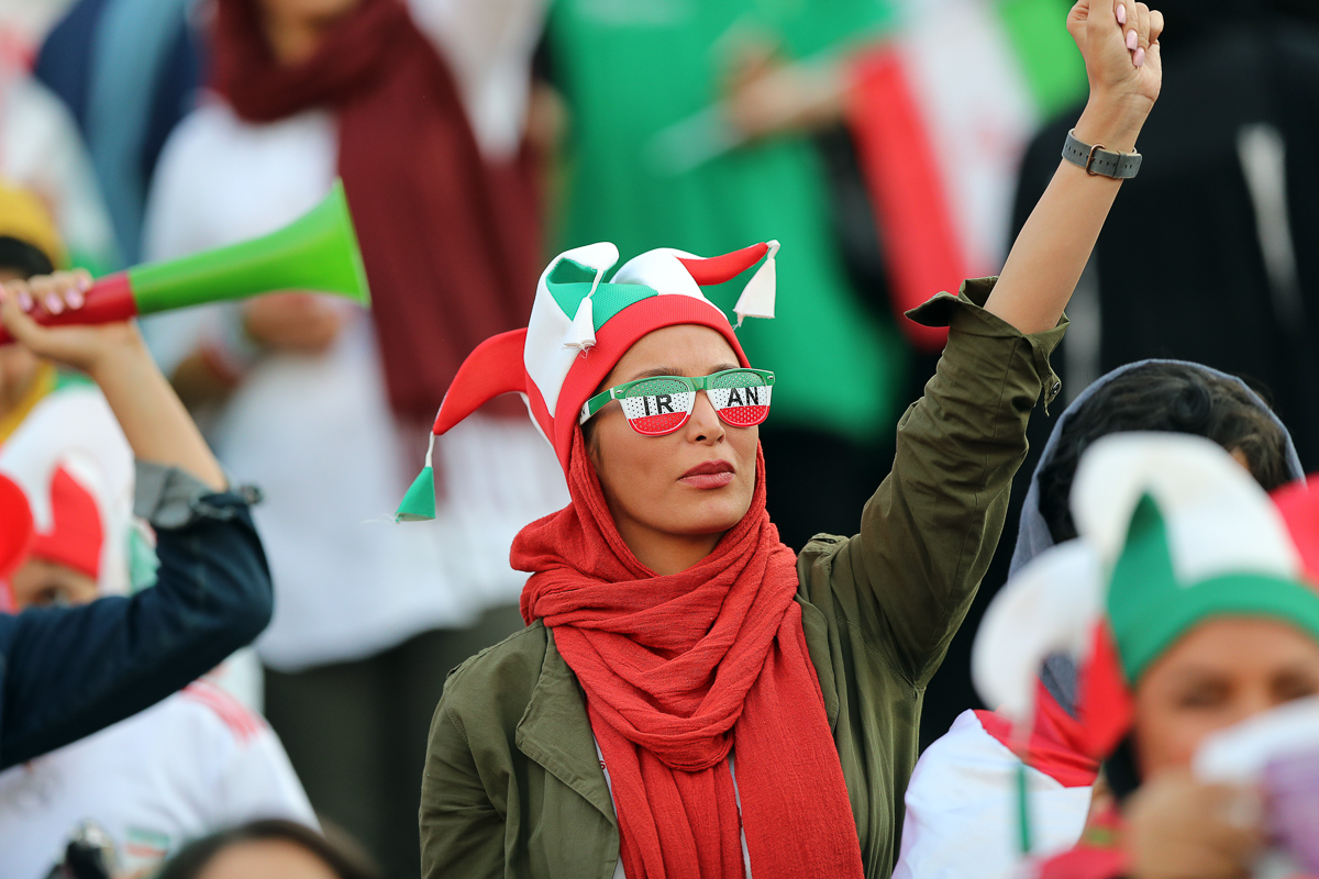 Last month, FIFA pressured Iran to allow women access to stadiums. [Amin M. Jamali/Getty Images]