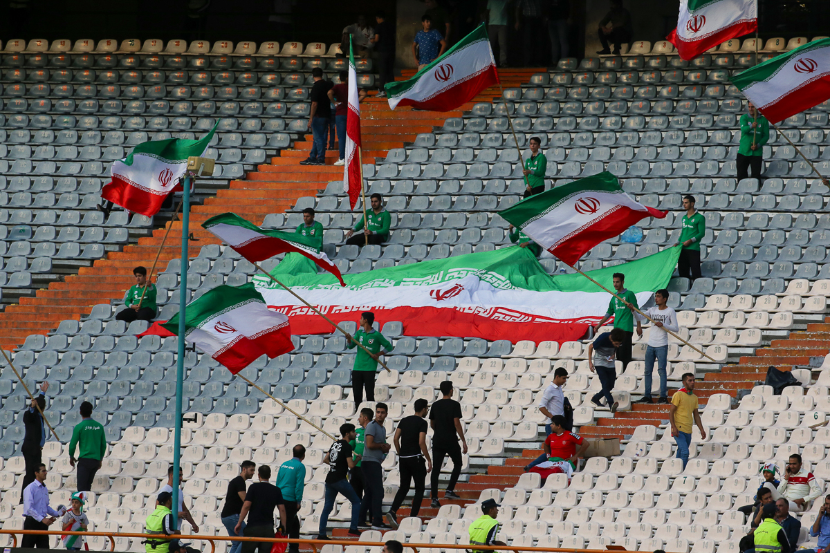 State news agency IRNA said that 3,500 women had purchased tickets ahead of the match on Thursday while 6,000 men also attended, a small number considering the stadium has a capacity of 80,000. [Atta Kenare/AFP]