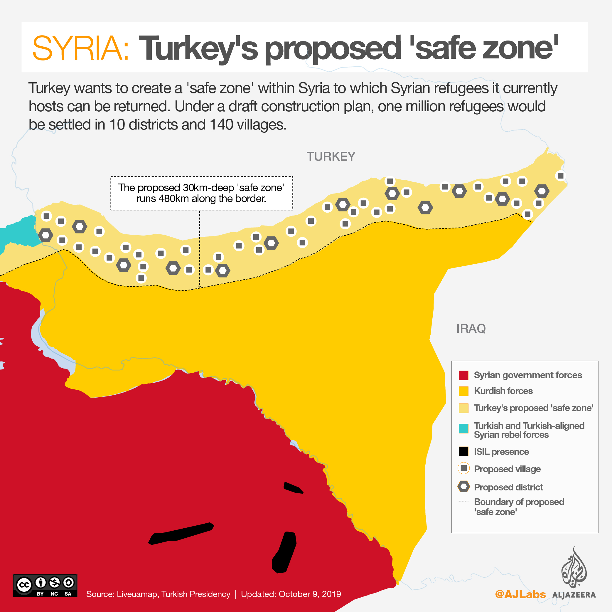 INTERACTIVE: Syria 'safe zone' map OCT 9 2019