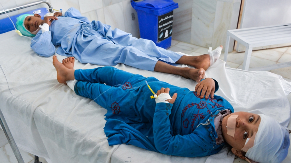 Taliban truck bomb kills police, wounds children in Afghanistan