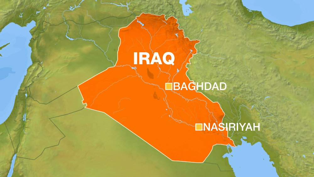 Iraq Map: Baghdad and Nasiriyahh