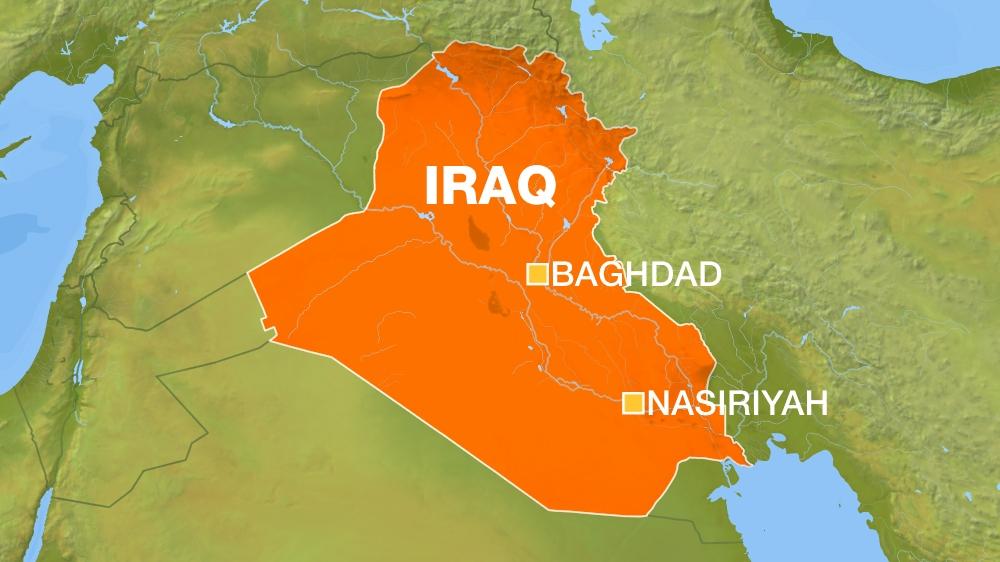 Iraq Map: Baghdad and Nasiriyah