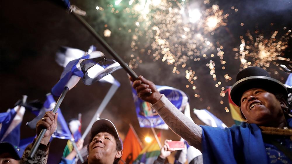 Bolivia Evo supporters