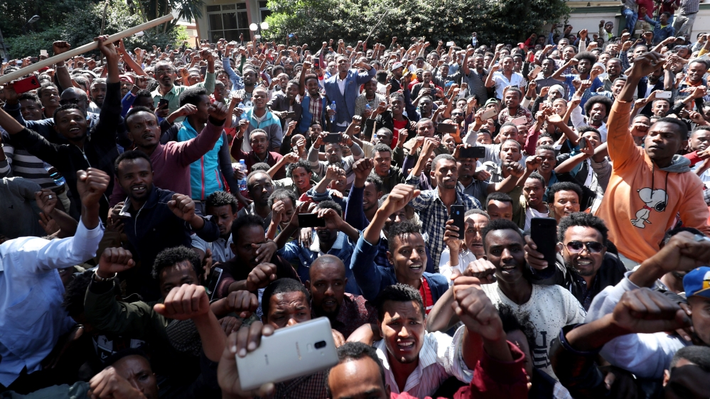 Protests spread after stand-off at Ethiopian activist's home