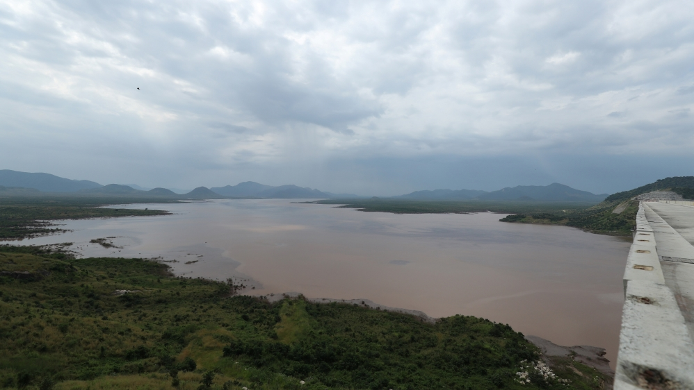 A water basin is seen near Ethiopia's Grand Renaissance Dam as it undergoes construction work on the river Nile in Guba Woreda, Benishangul Gumuz Region, Ethiopia September 26, 2019