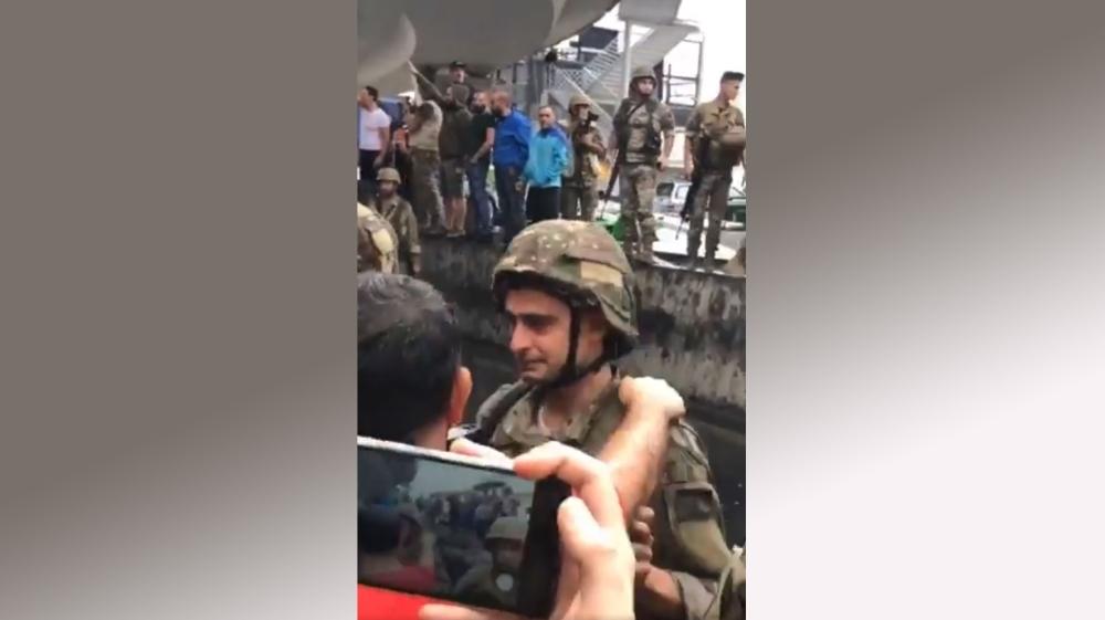 Lebanon crying Army man
