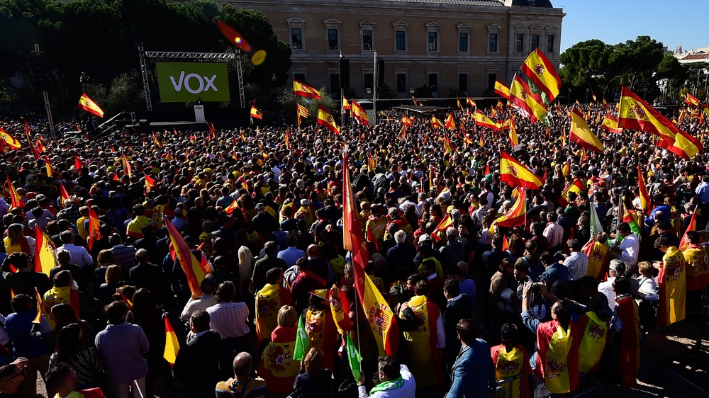 Vox protests