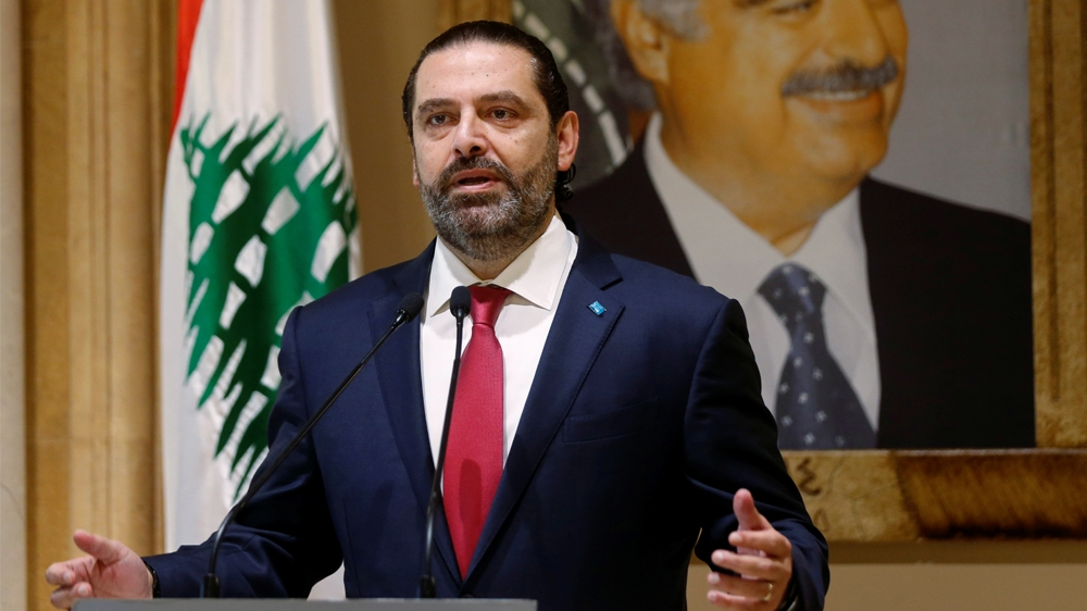 Lebanon's Prime Minister Saad al-Hariri speaks during a news conference in Beirut, Lebanon October 29, 2019. REUTERS/Mohamed Azakir