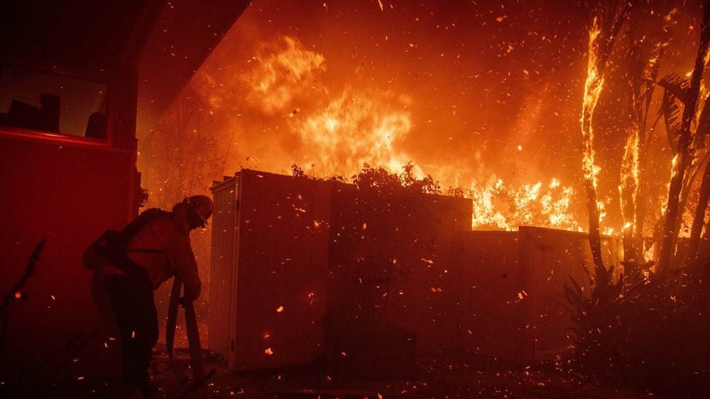 California wildfires: New blaze erupts as crews brace for winds