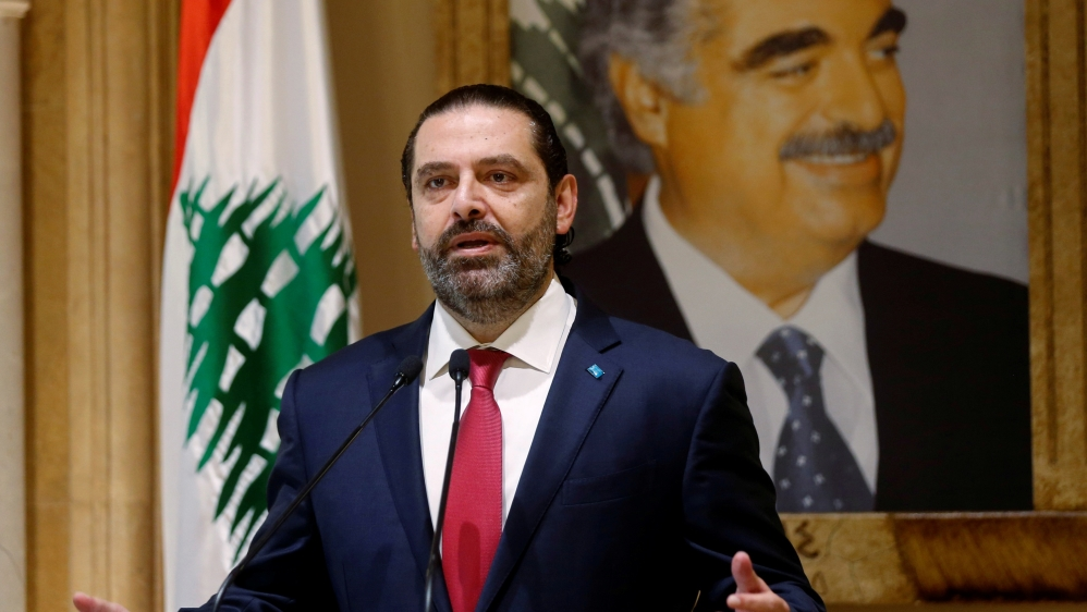 Lebanon's Prime Minister Saad al-Hariri speaks during a news conference in Beirut, Lebanon October 29, 2019