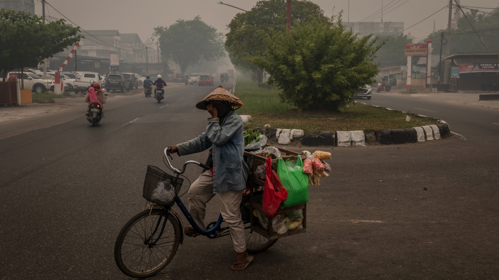 Forest Fires Rages In Indonesia