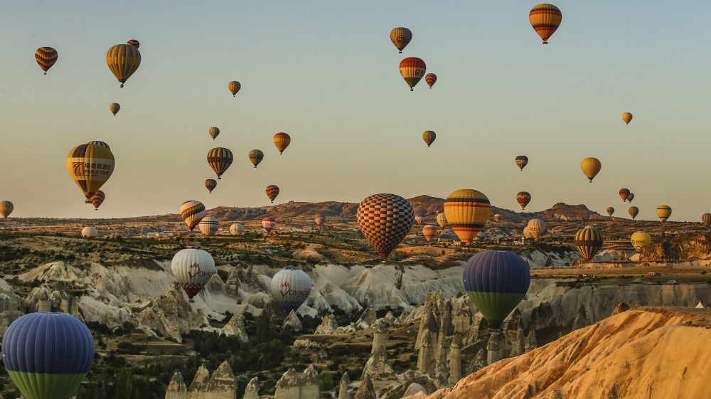 Hot Air Balloons Ride Over Turkeys Iconic Cappadocia  Turkey  Al Jazeera-3780