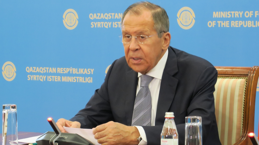Russian Foreign Minister Lavrov in Nursultan