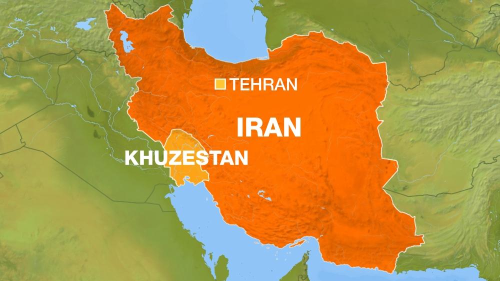 iran map showing Khuzestan province