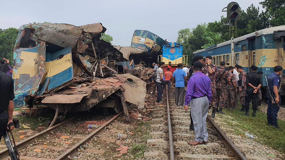 Bangladesh train collision: 15 killed, 40 injured; death toll to rise