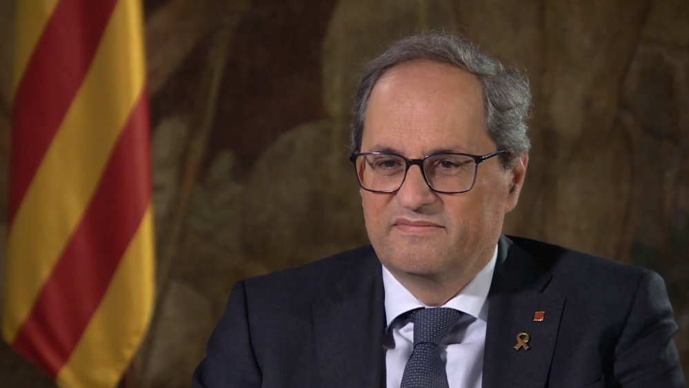 Catalan Leader Quim Torra talks to al jazeera
