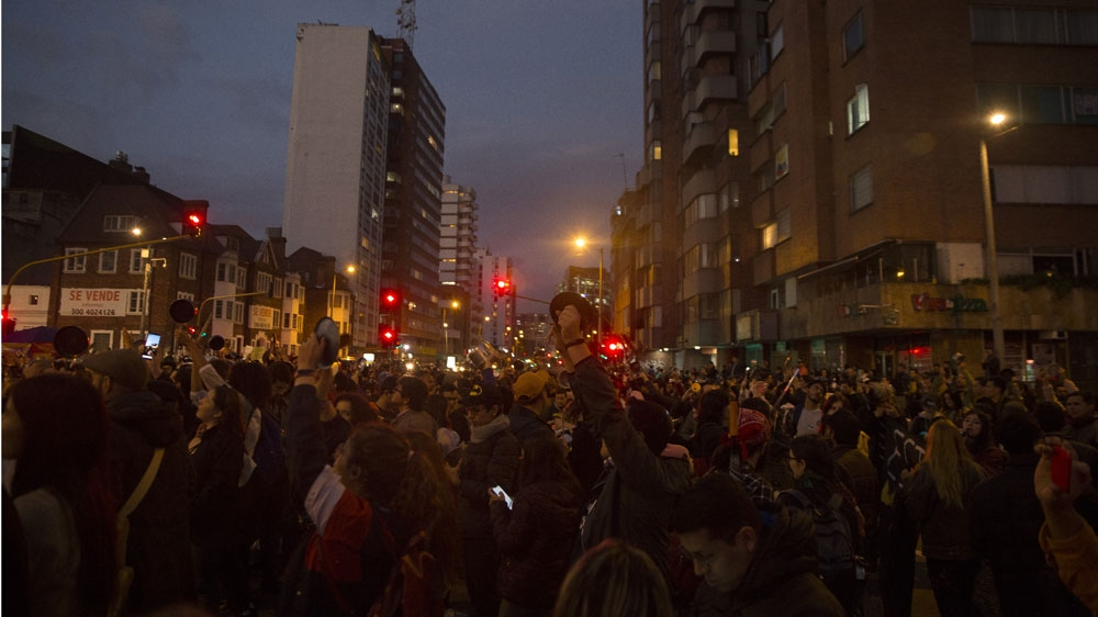 Colombia Bogota protest