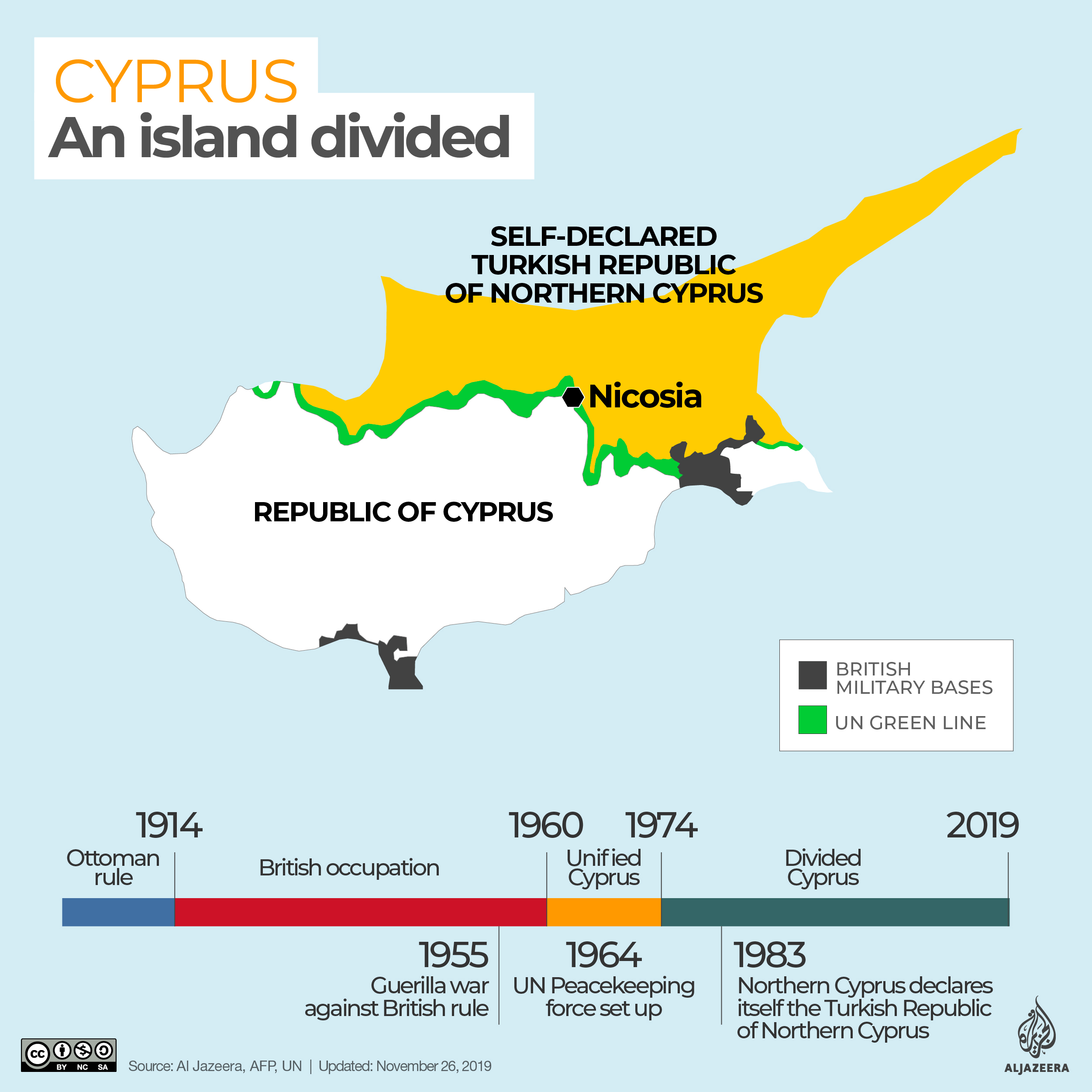 Cyprus - an island divided - map