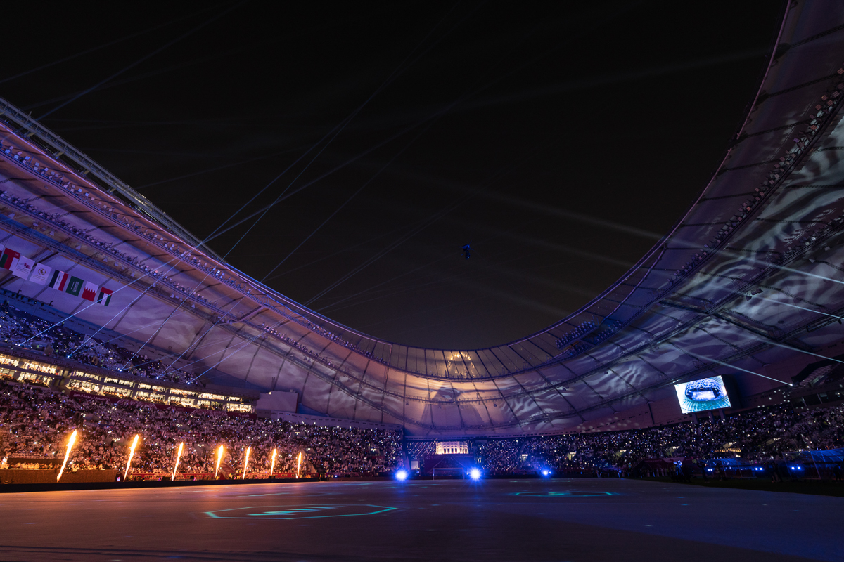 The football tournament's opening ceremony was held at the 40,000-capacity Khalifa International Stadium. [Sorin Furcoi/Al Jazeera]