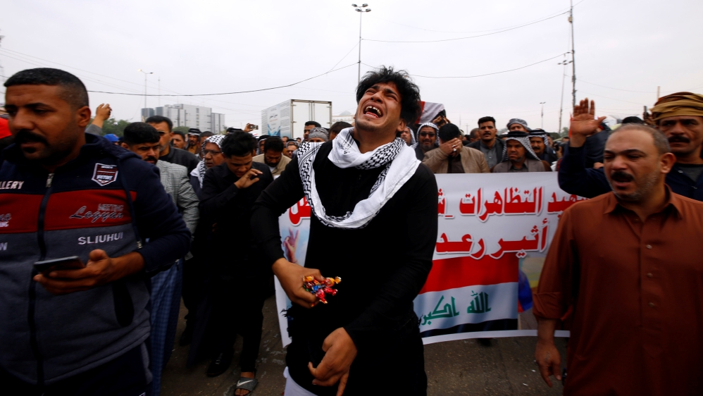 After months of deadly protest, Iraq's government in chaos