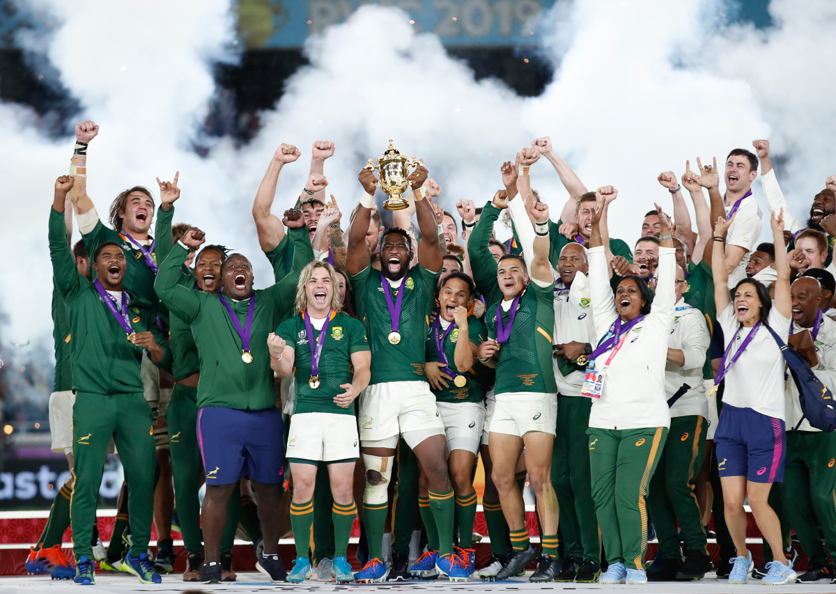 Scenes Of Joy As South Africa Lift Rugby World Cup Trophy South Africa Al Jazeera