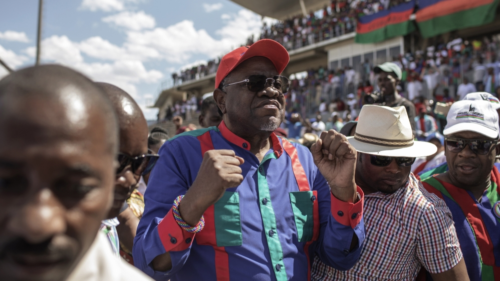 Image result for Namibia's President Hage Geingob wins re-election