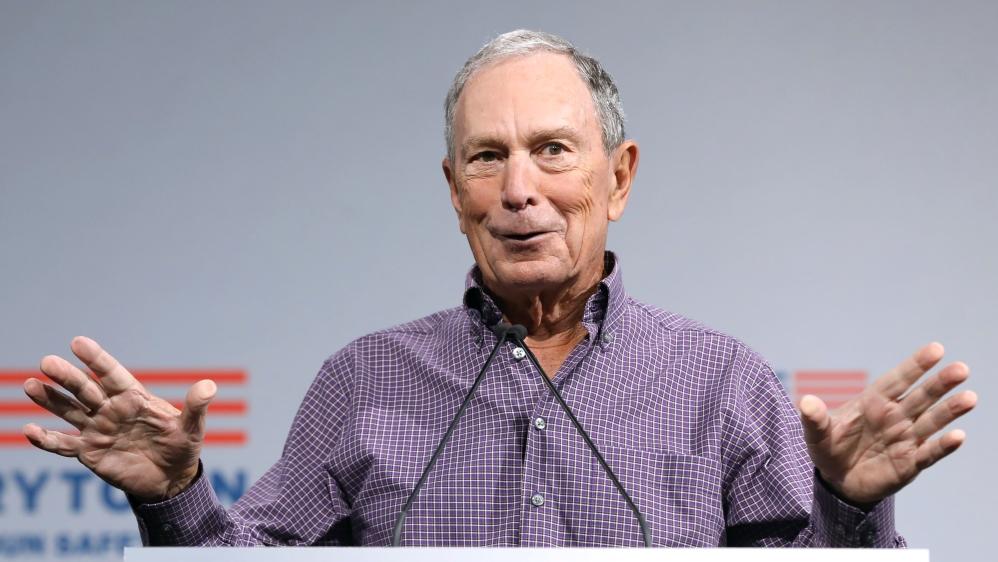 Former New York City Mayor Michael R. Bloomberg speaks during the Presidential Gun Sense Forum in Des Moines