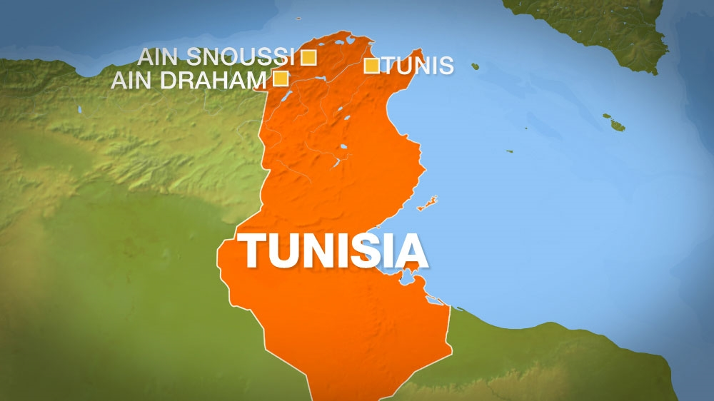 Tunisia ain draham map