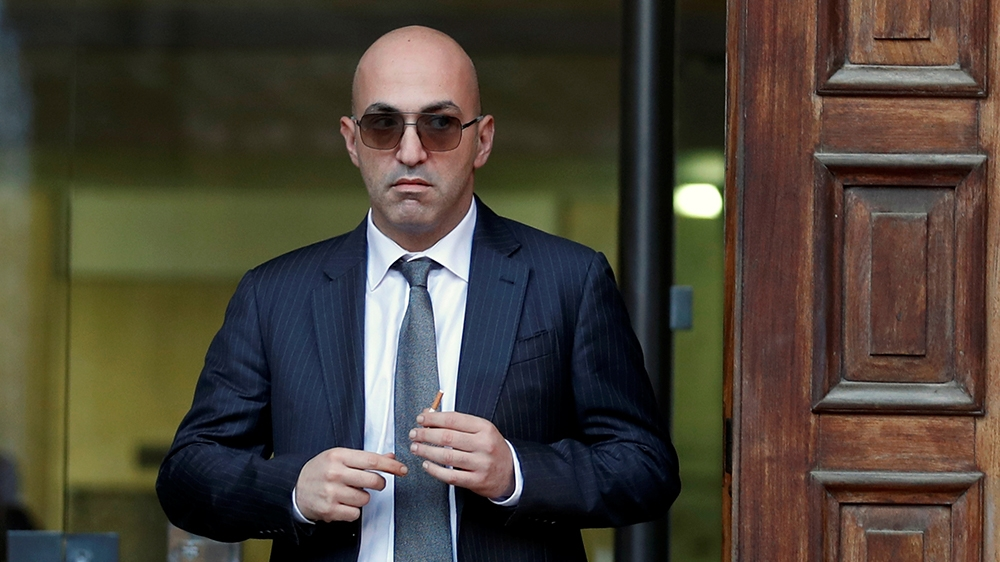 Maltese businessman Yorgen Fenech, who was arrested in connection with an investigation into the murder of journalist Daphne Caruana Galizia, leaves the Courts of Justice in Valletta, Malta, November