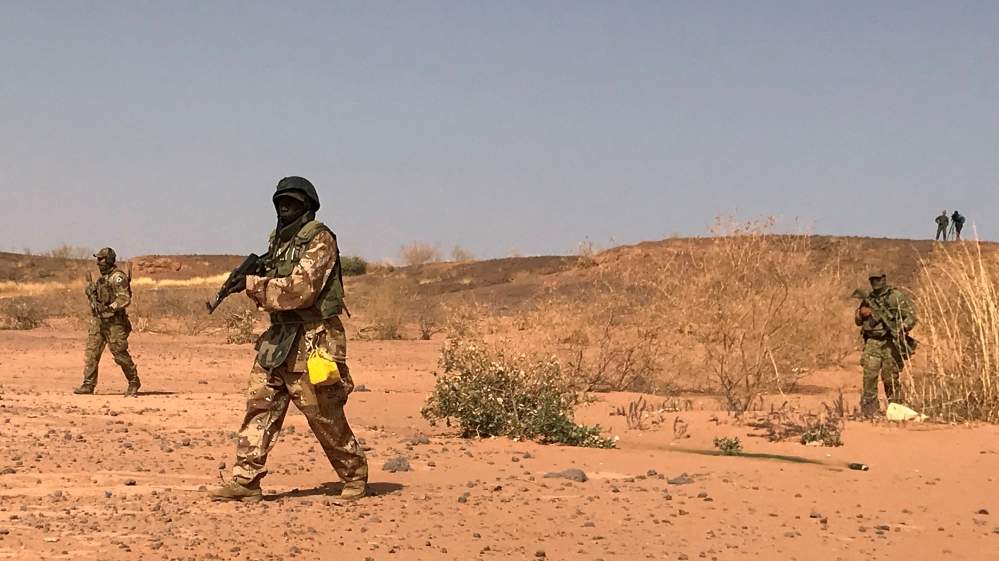 Nigerien commandos durinng April 2018 military exercises in Ouallam