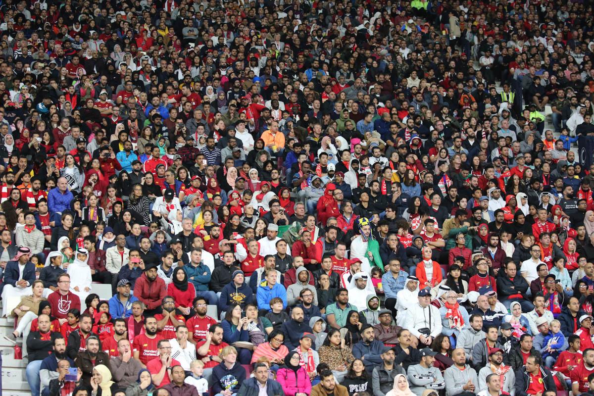 45,413 spectators watched today's semifinal at Khalifa International Stadium. [Showkat Shafi/Al Jazeera]