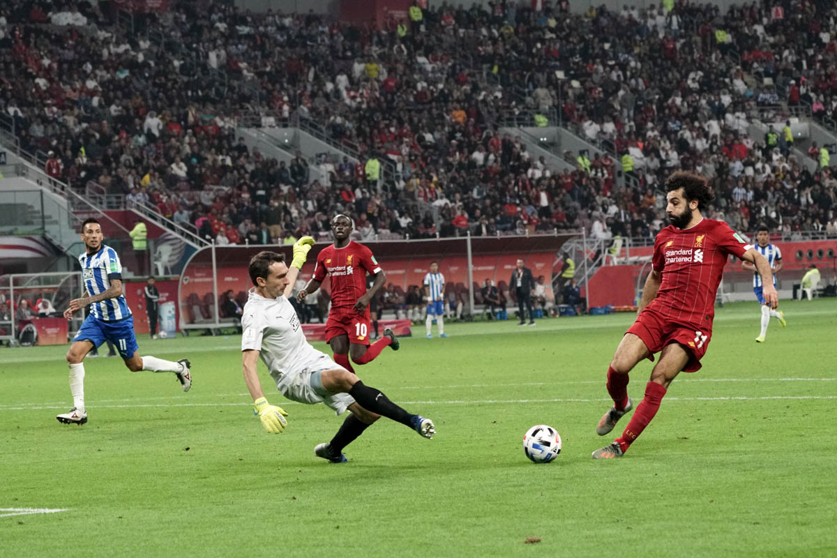 Mohamed Salah was named Professional Footballers' Association Player of the Year and the Football Writers' Association's Footballer of the Year in England, after he scored 44 goals for Liverpool in all competitions in 2018. [Sorin Furcoi/Al Jazeera]