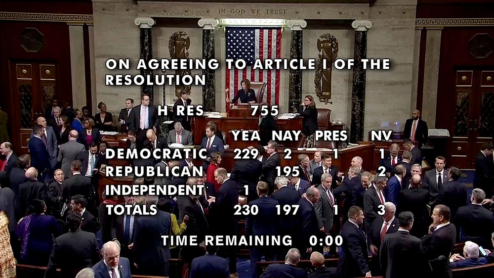 US House passes Trump impeachment
