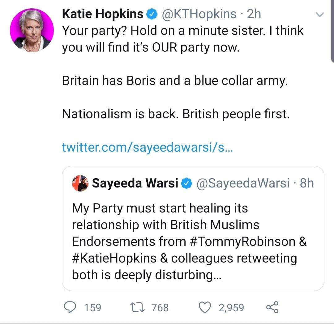 Katie Hopkins tweet - twitter