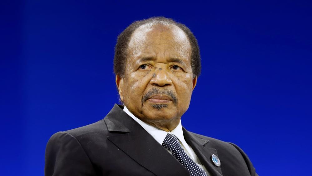 Cameroon President Paul Biya attends the Paris Peace Forum