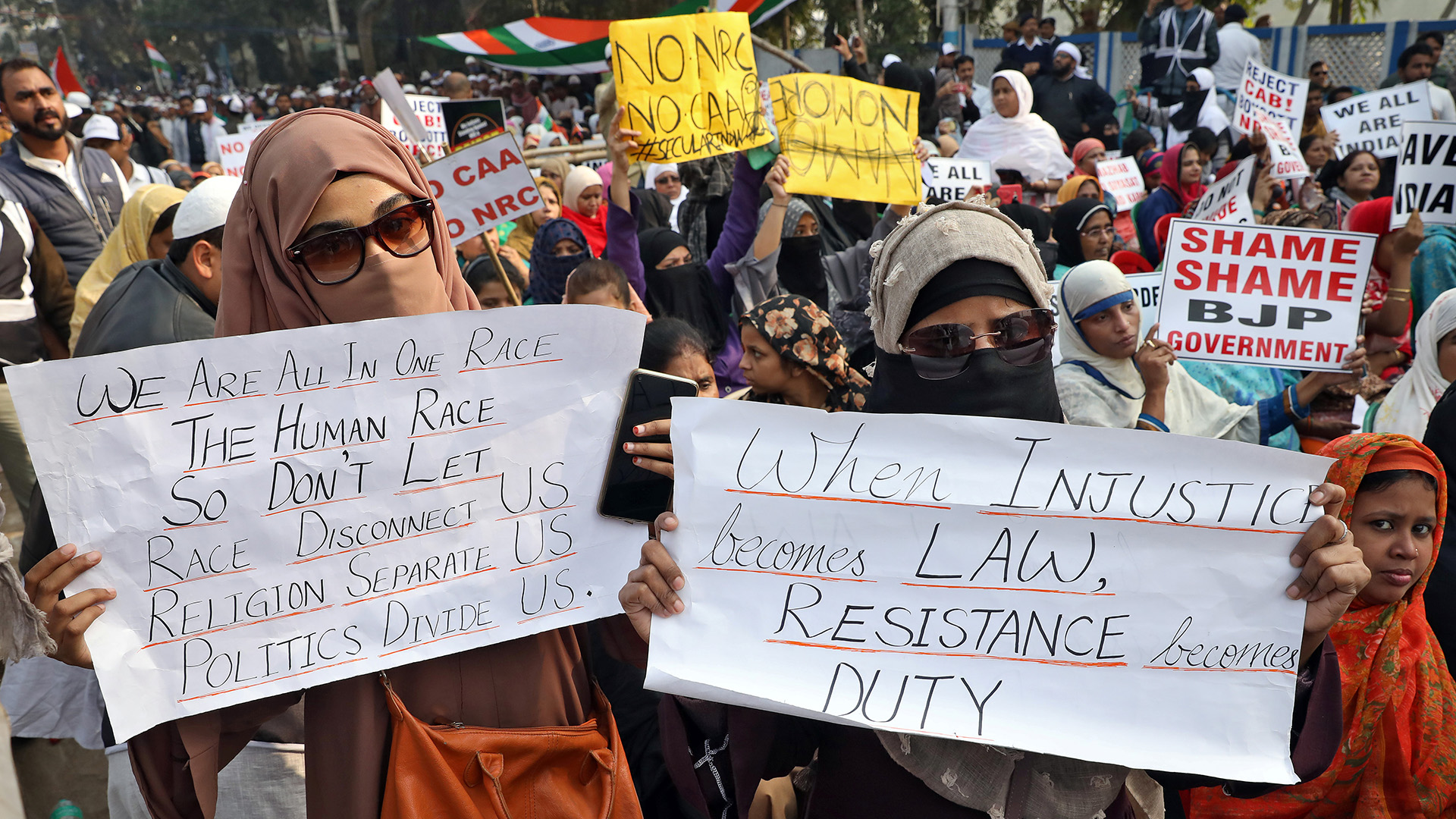 The women at the front lines of India's citizenship law protests