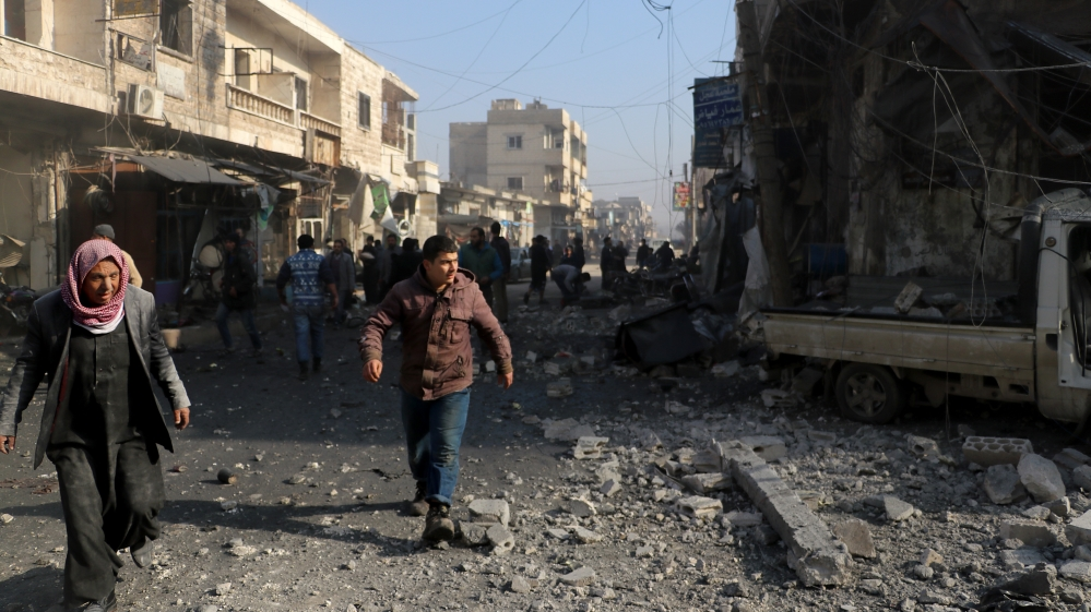 Children among eight killed in Syria as missile hits school
