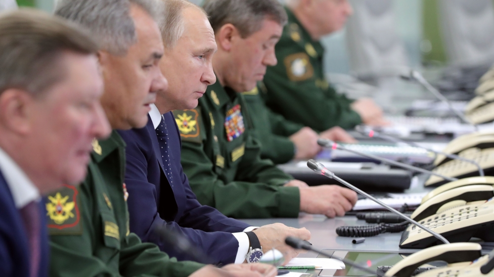 Russian President Vladimir Putin visits National Defense Control Center