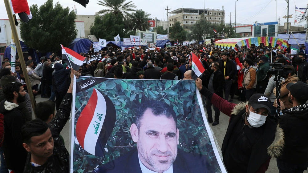 Iraq protests, funeral