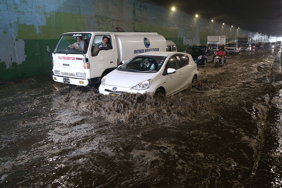 Flash flooding is the weather's biggest killer. Here, in Karachi, Pakistan, several people were killed when storms brought heavy rain to the region. [Rehan Khan/EPA]