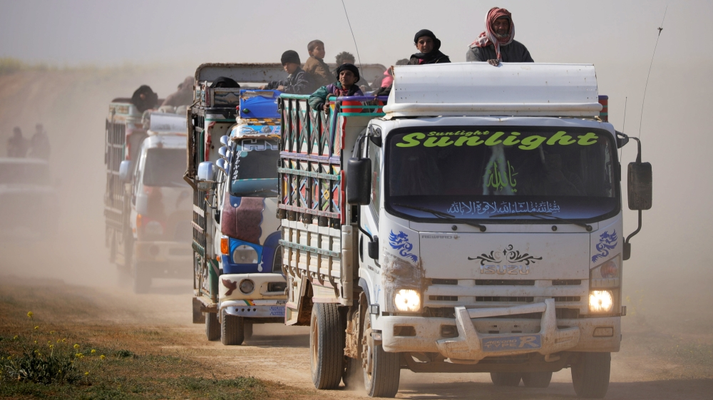 Convoy of civilians leaves final ISIL holdout in Syria