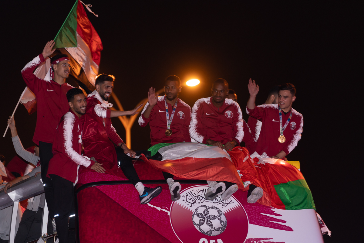 Qatar welcomes Asian Cup football champions home [Sorin Furcoi/Al Jazeera]