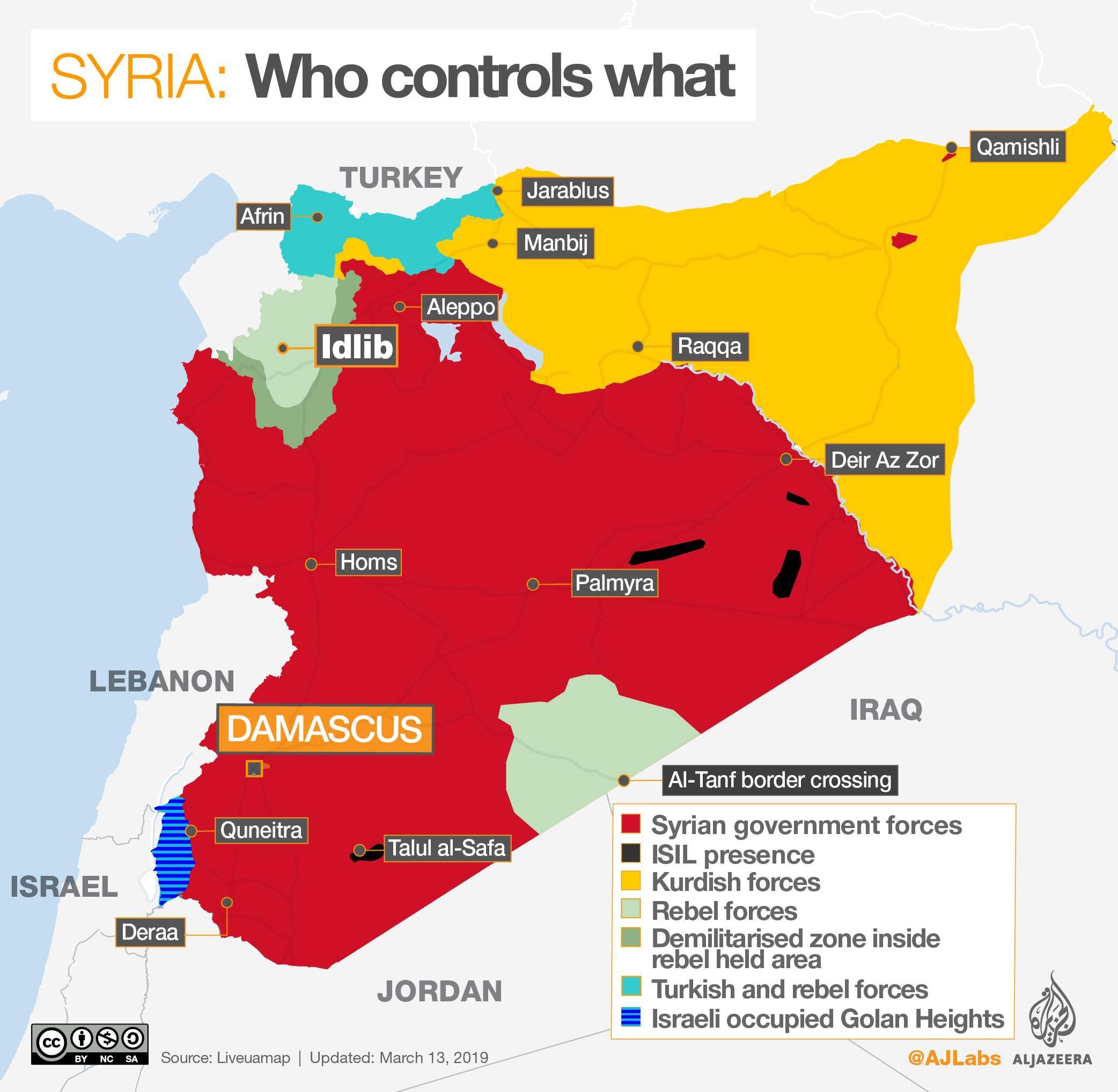 Syrian Territory Map Syria's war: Who controls what? | | Al Jazeera