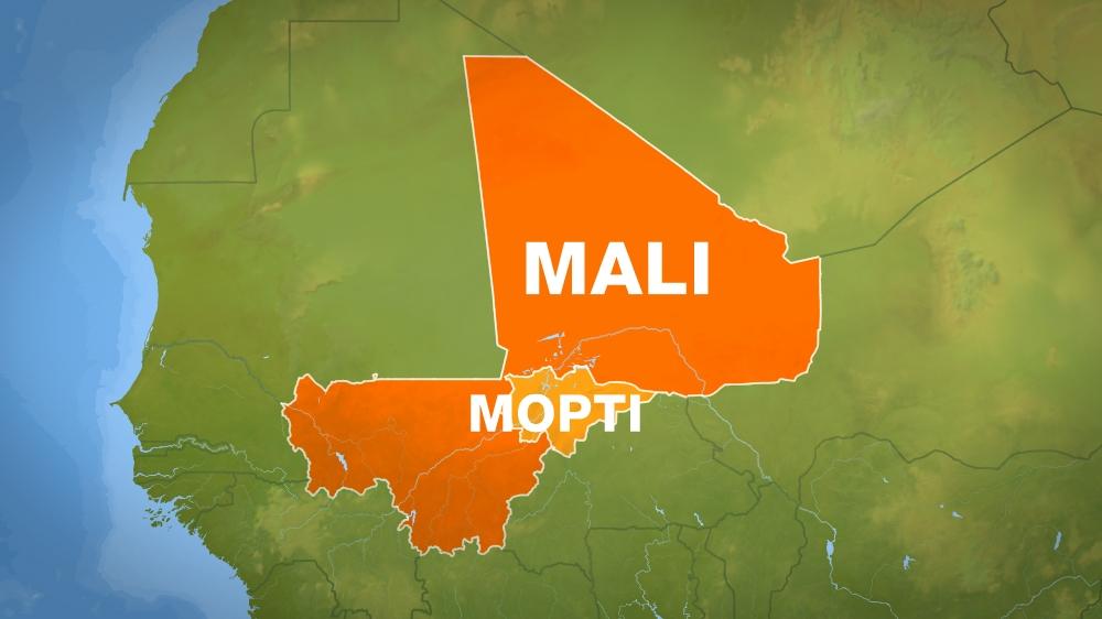 Mali Mopti region map