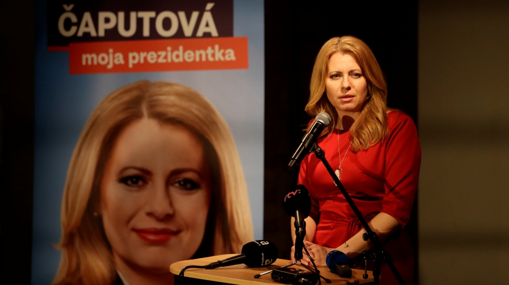 Caputova won the first round of voting two weeks ago securing 40.6 percent of the ballots cast